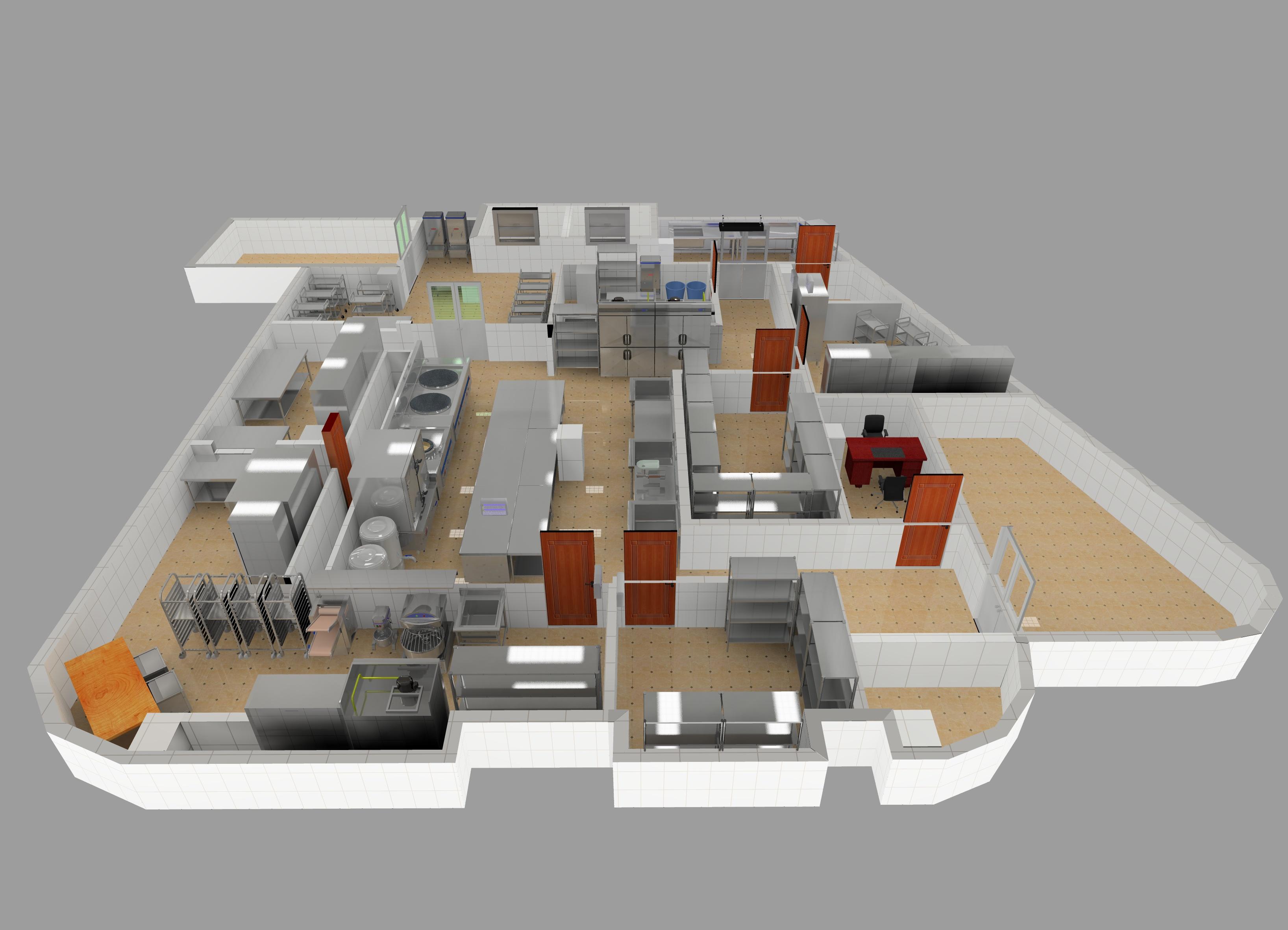 幼儿园厨房平面图及效果图设计方案